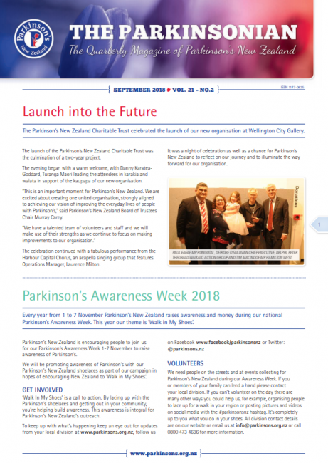 Front Cover of Parkinsonian September 2018